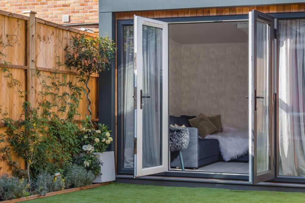 Artist studio with door open