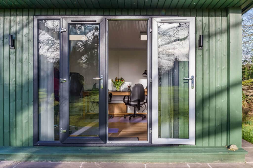 French doors to home office