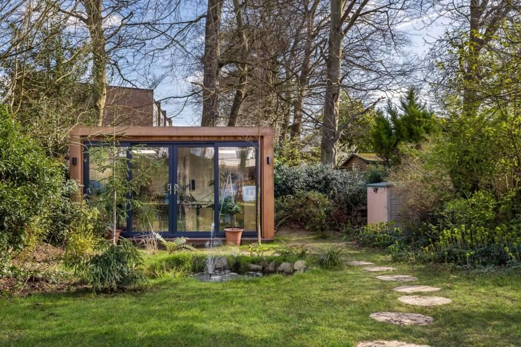 garden room in rustic garden
