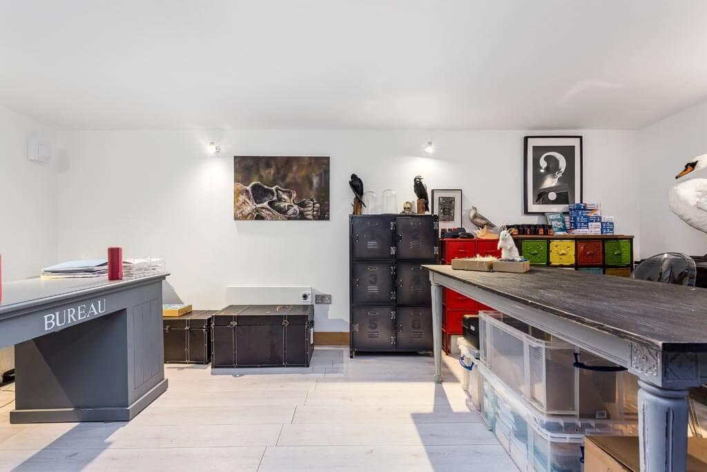 taxidermy studio interior