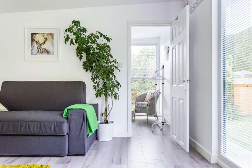 interior of a garden house