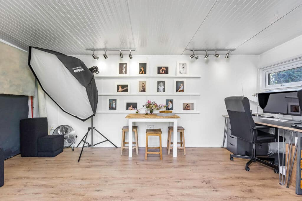 Home photography studio interior