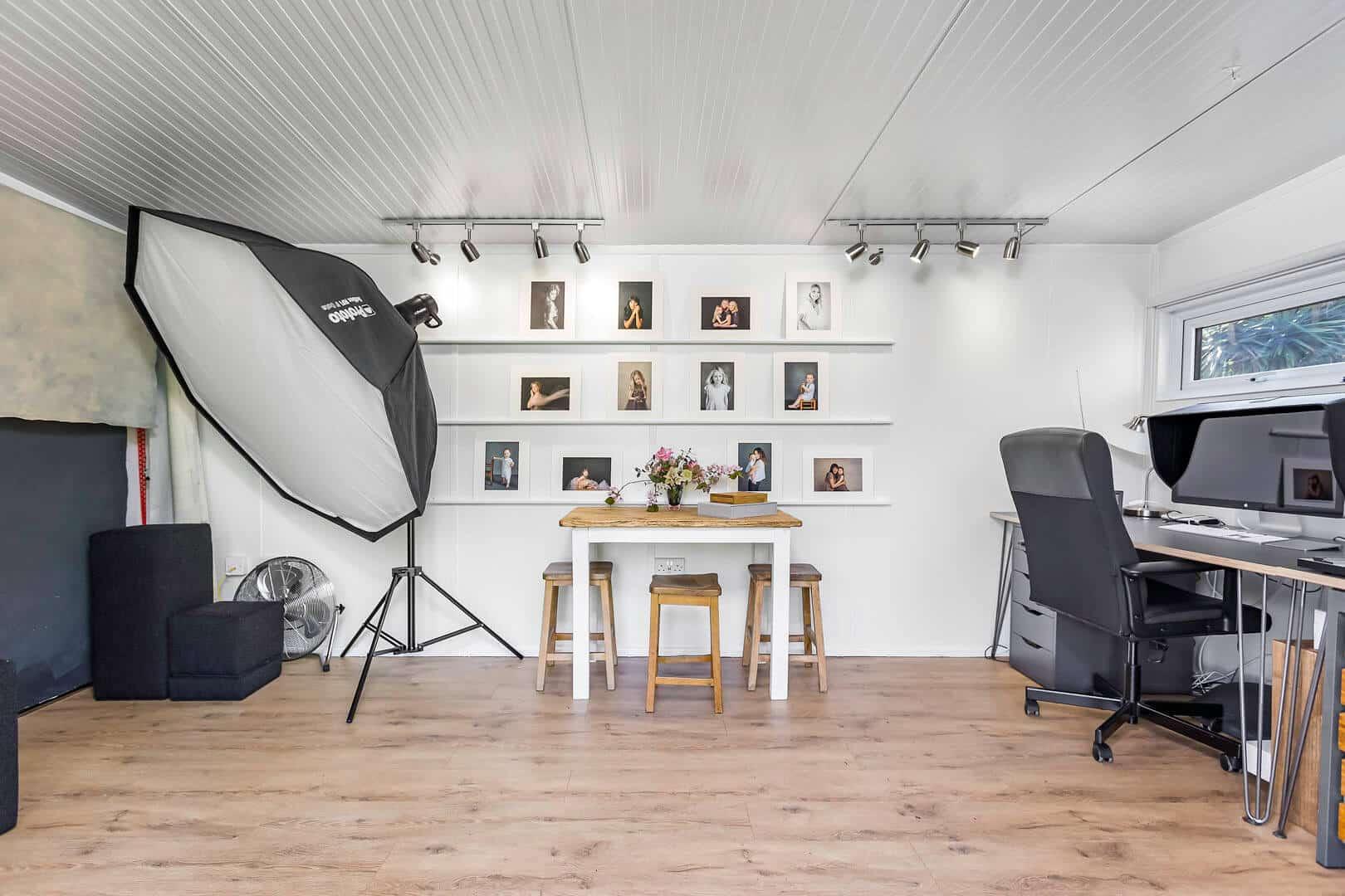 7.5m x 3m Home Photography Studio Gallery | Green Retreats