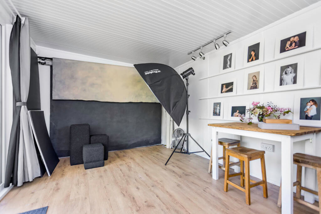 Large home photography studio interior