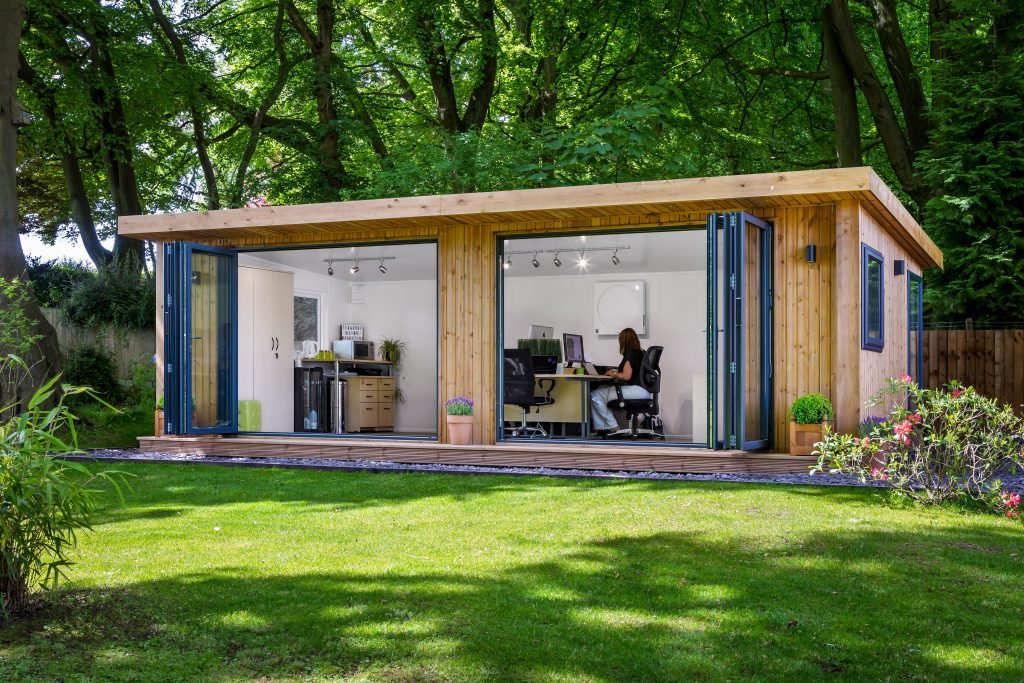 contemporary large garden office