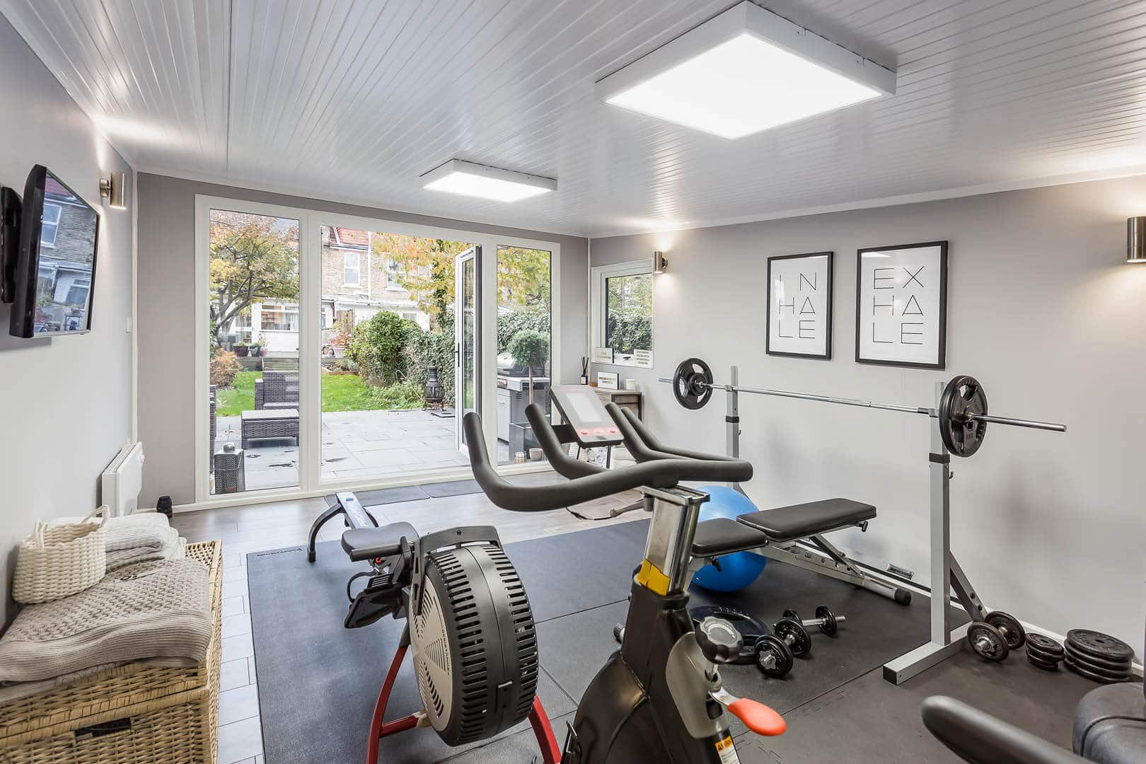 home gym equipment and weights