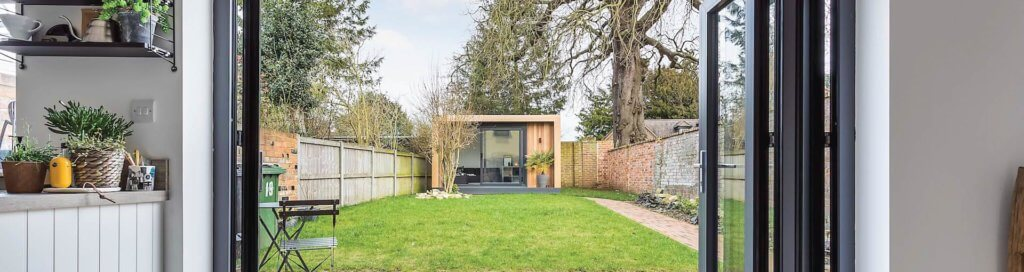 Small Contemporary Garden Room