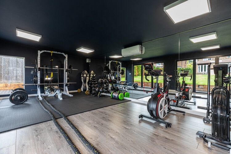 Interior of Edge home gym