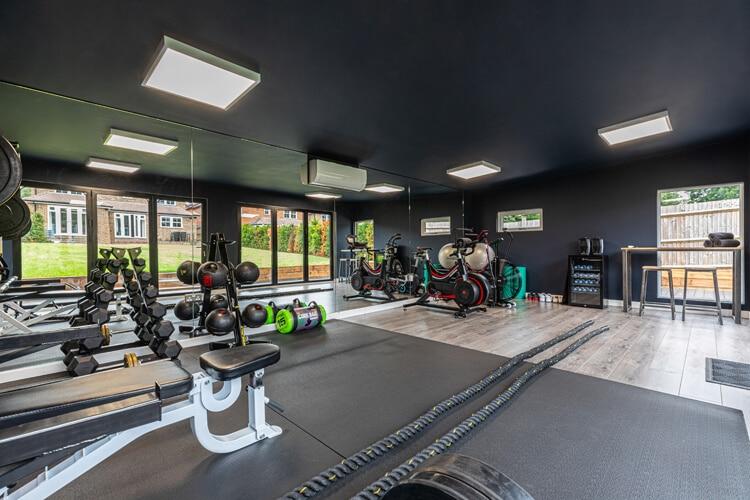 Interior of Edge home gym