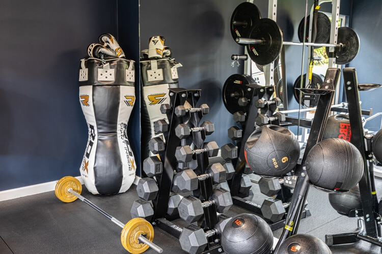 Interior of Edge home gym with equipment