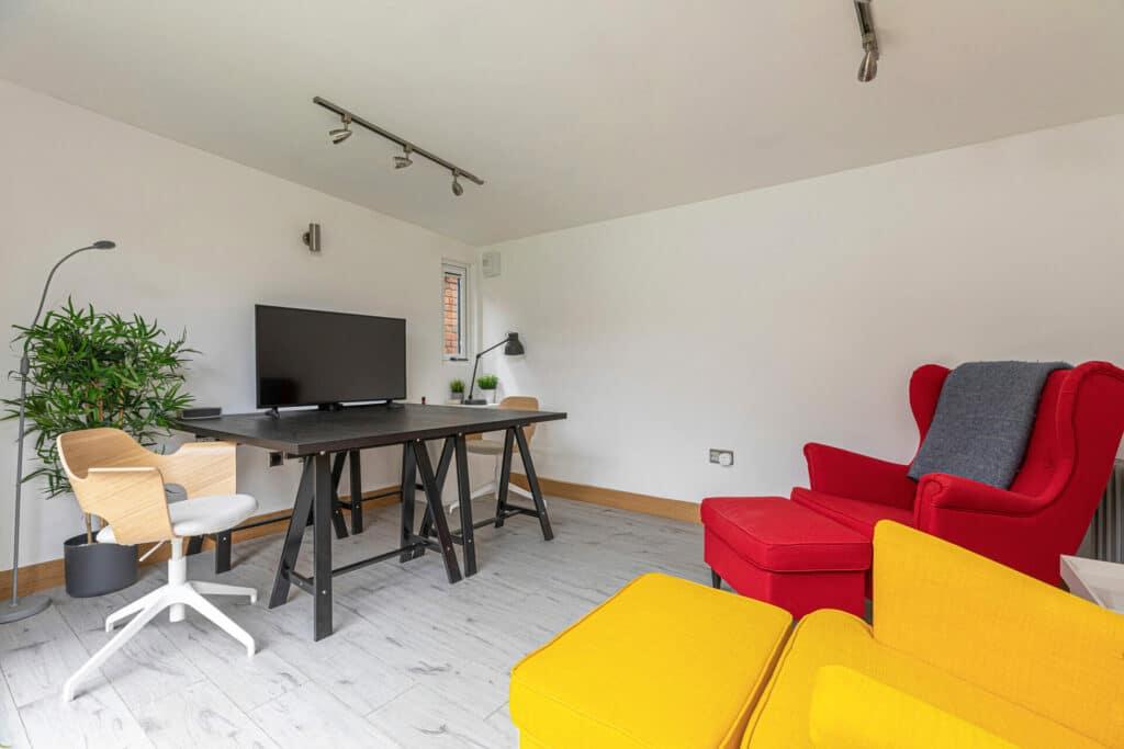 garden office and den interior