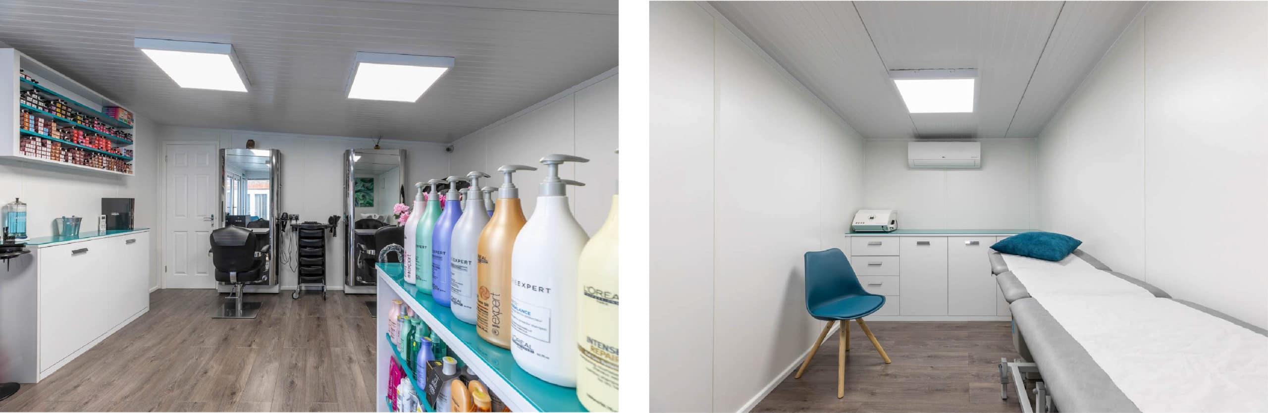 Garden Hair Salon with Partition Walls