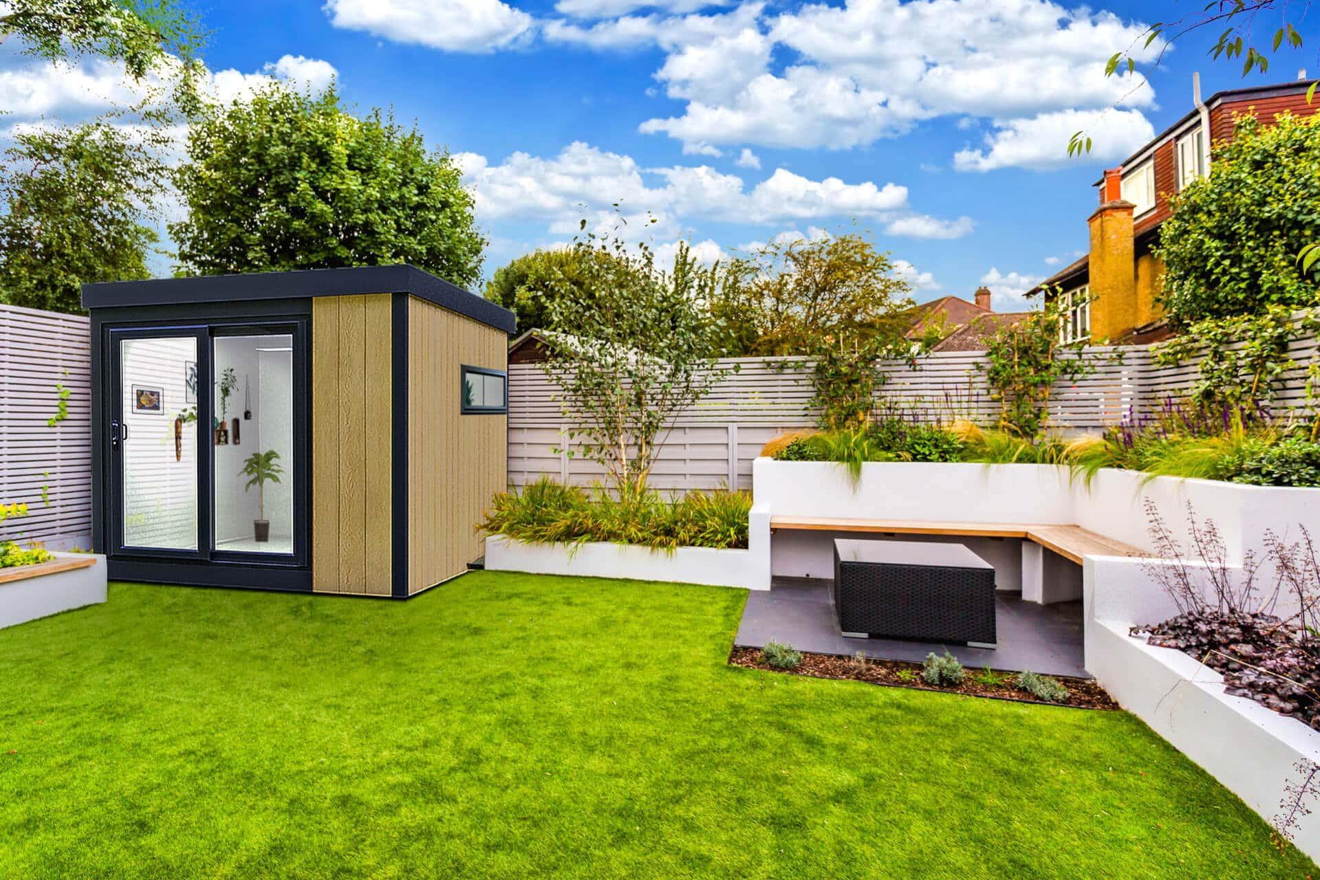 garden pod in modern garden