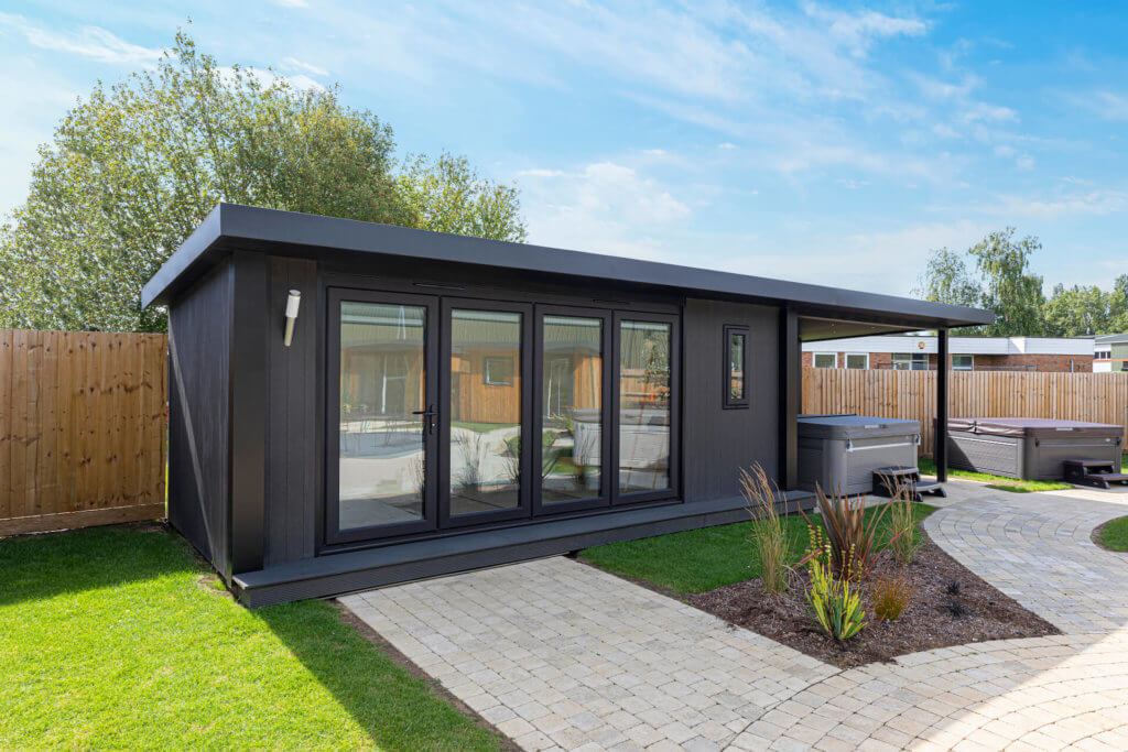 garden room with side canopy