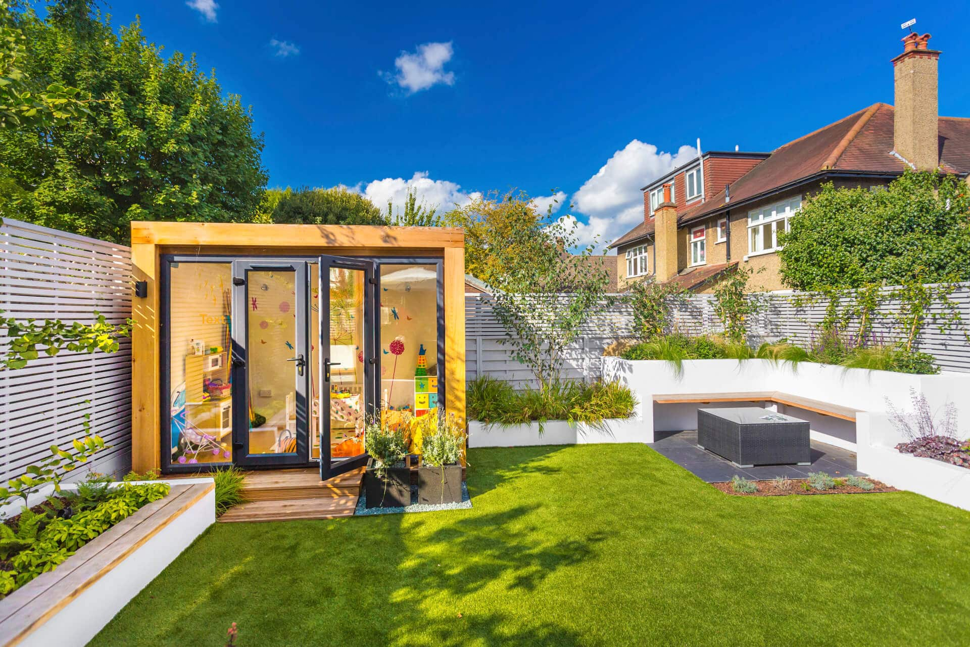 outdoor small garden playroom