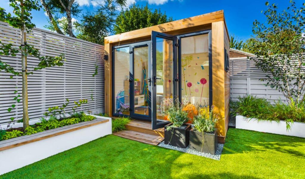 garden room playroom with door ajar