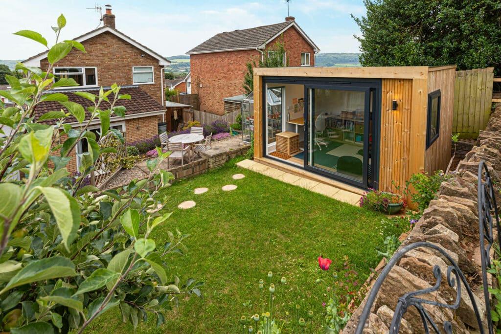 garden studio building in UK garden