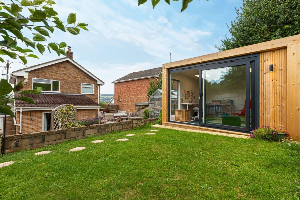 bright and modern garden studio building