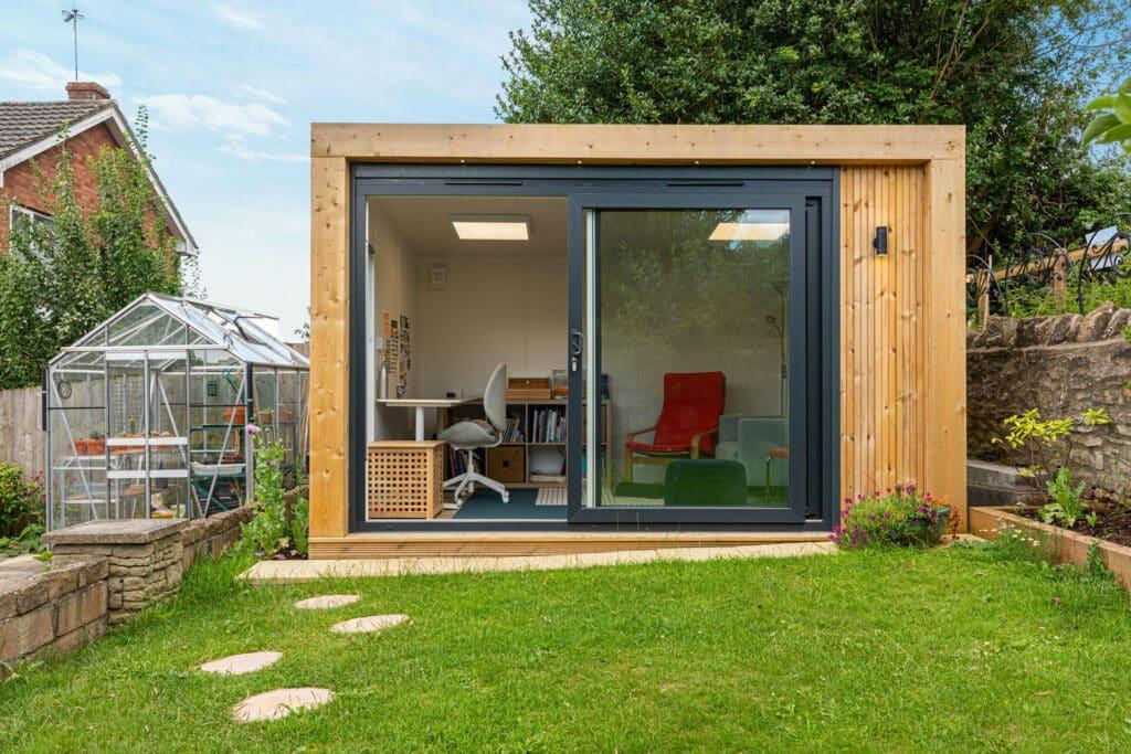 modern garden studio for art and writing