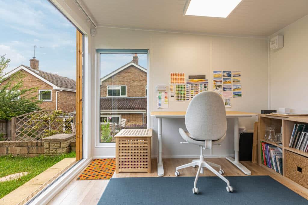 garden art studio and home schooling space