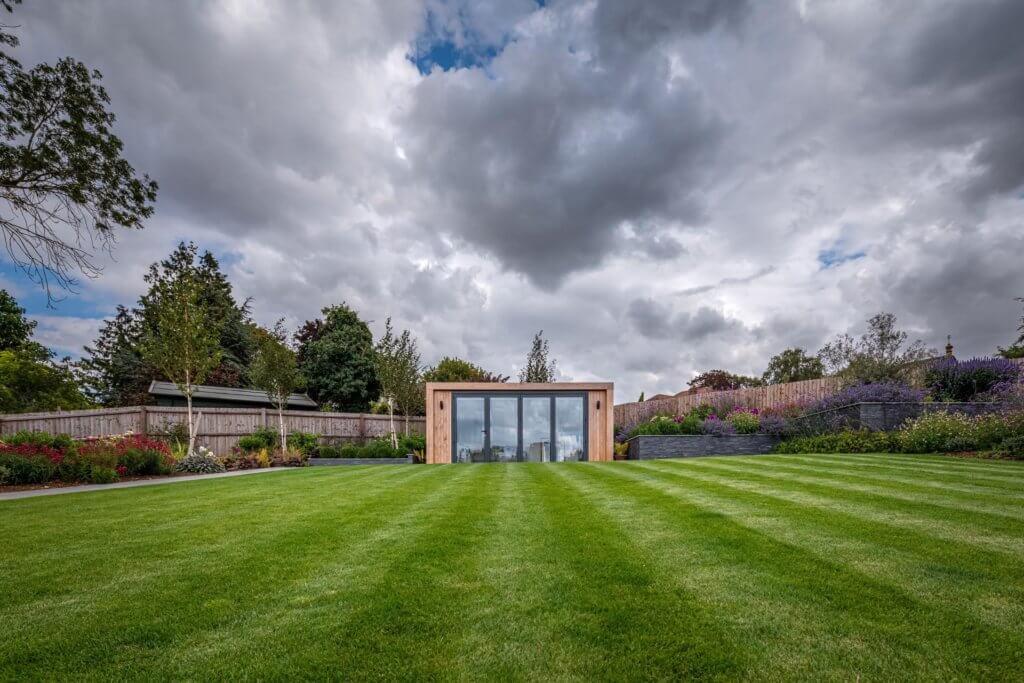 garden lawn and garden room