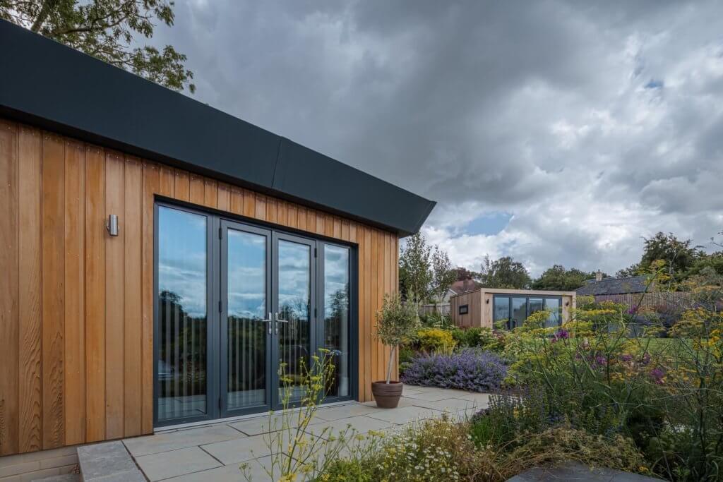cedar clad garden buildings