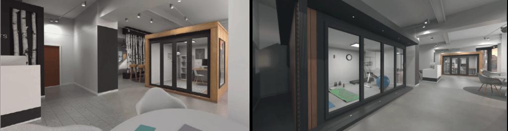 Visualisation of London Garden Room Showroom Interior