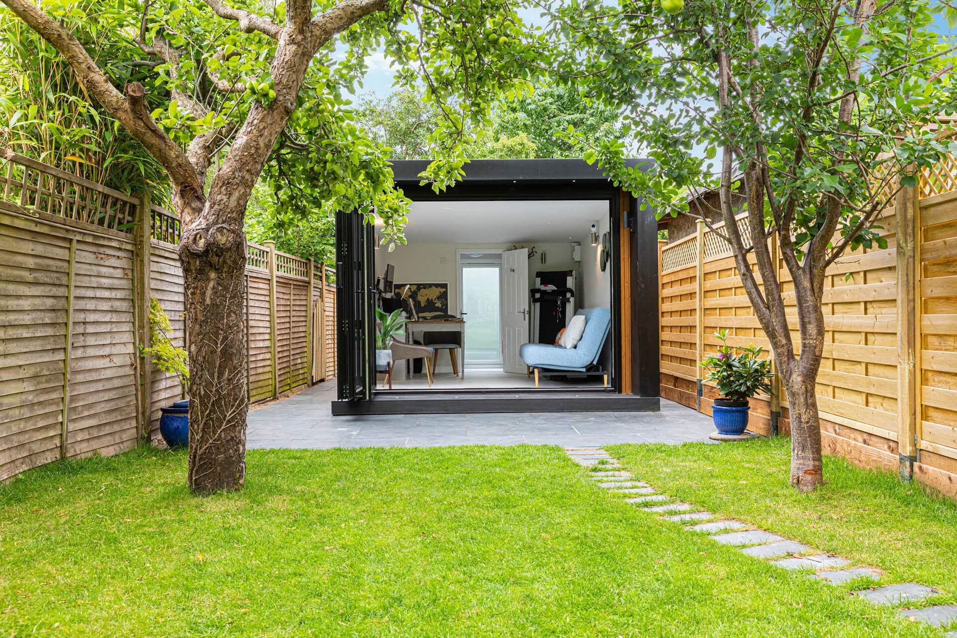 narrow garden office