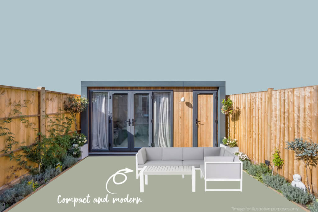 Photo of Inspiration with grey modular garden set outside