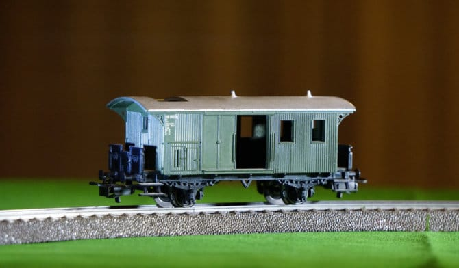 model railway train for a hobby room