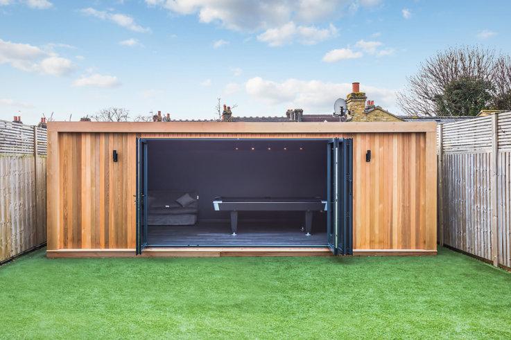modern garden games room