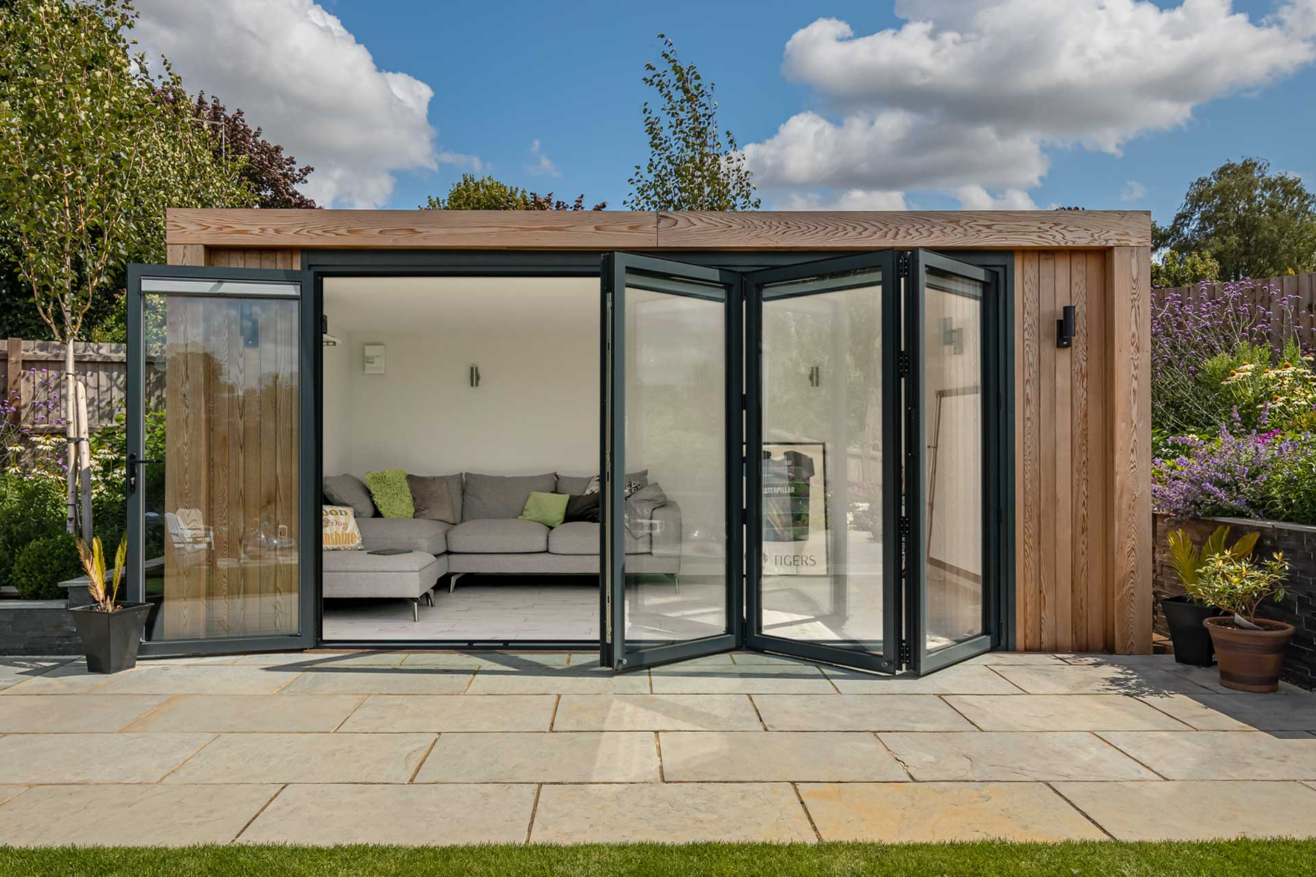 inspiration garden room with bifold doors