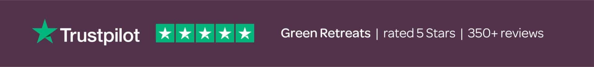 Green Retreats rated 5 Star on Trustpilot