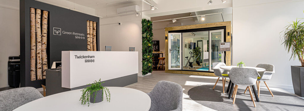london garden room showroom green retreats