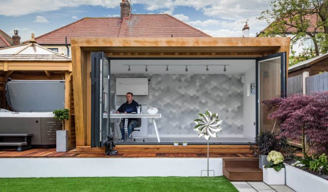work from home garden office